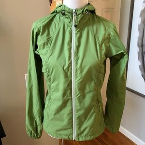 Eddie Bauer green lightweight rain coat jacket